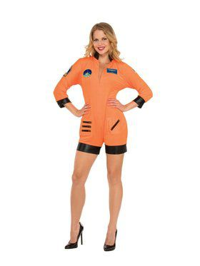 Sexy Astronaut - Orange Adult Costume