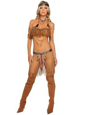 Sexy Cherokee Warrior Indian Adult Costu