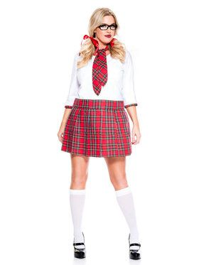 Sexy Curvaceous School Nerd Costume