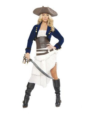 Deluxe Sexy Colonial Pirate Womens Costume