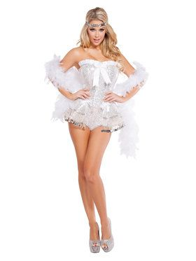 Sexy Flirty Flapper Womens Costume