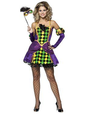 Sexy Mardi Gras Queen Costume Adult