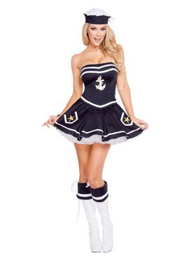 Sexy Naughty Navy Yard Vixen Costume