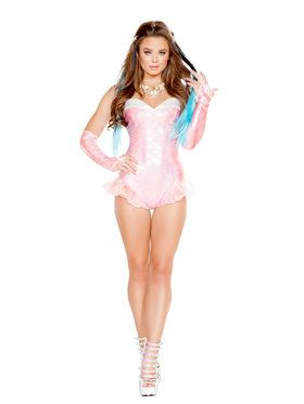 Sexy Womens Pink Mermaid Costume