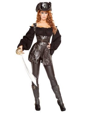 Sexy Pirate of the Night Womens Costume