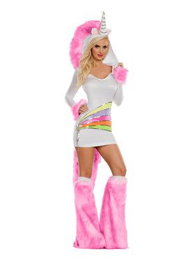 Rainbow Unicorn Sexy Costume