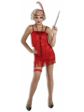 Sexy Womens Flapper Costume Red