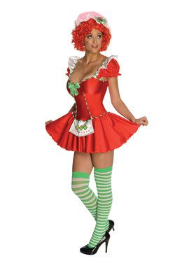 Sexy Womens Strawberry Shortcake Costume