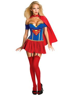 Women's Supergirl Corset Costume