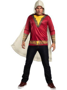 Shazam Costume Top Adult
