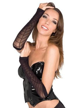Sheer Spiderweb Arm Warmers One Size