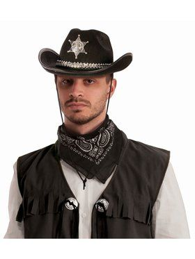 Sheriff Hat With Silver Band