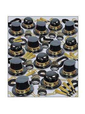 Showtime Gold New Year Assorted Party Kit for 100