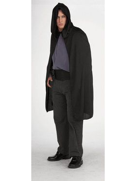 Shrt Blk Hooded Cape 70D
