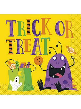 Silly Halloween Monsters Beverage Napkin (16)