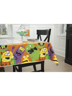 Silly Halloween Monsters Plastic Tablecover (1)