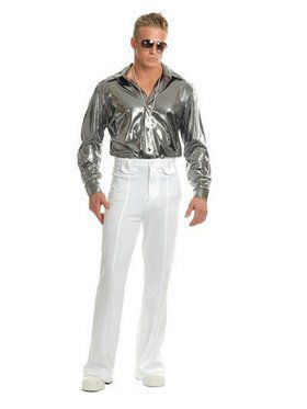 Silver Nail Head Disco Shirt-Plus