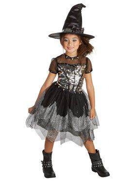 Silver Rock Child Witch Costume