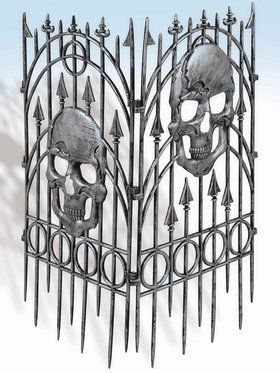36 Cemetery Fence With Skulls