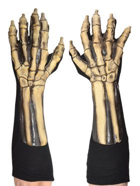 Skeleton Gloves One Size