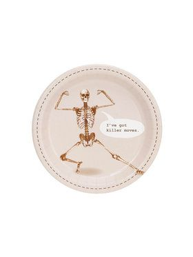 Skeleton I've Got Killer Moves Dessert Plate (8)