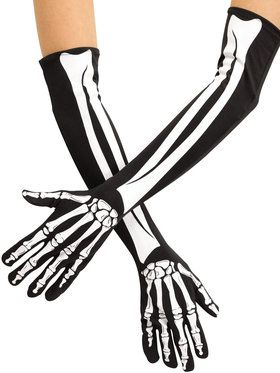 Skeleton Opera Length Gloves