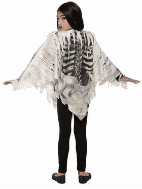 Skeleton Poncho - Child Costume