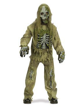 Tattered Skeleton Zombie - Child Costume