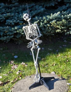 Skewered Skeleton Prop with Stand