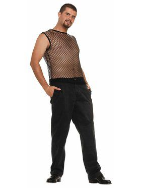 Sleeveless Mesh Hip Hop Top