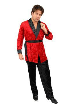 Smoking Jacket Red Adult Costume