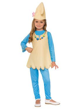 Smurf's The Lost Village Blossom Smurf Girl's Costume