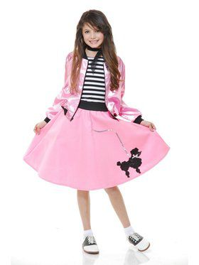 Sock Hop Sweetheart Girl's Pink