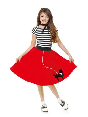 Sock Hop Sweetheart Girl's Red