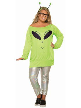 Spaced Out - Shirt, Leggings & Antennae - Plus