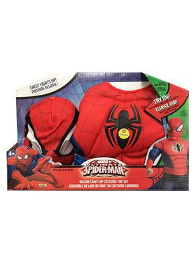 Spider-Man Boys Light Up Costume Top Set