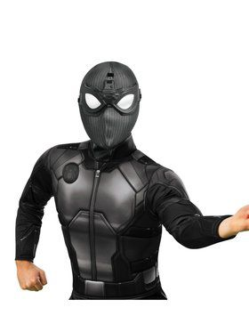 Spider - Man: Far From Home Deluxe Adult Spider - Man Stealth Fabric Mask with Molded Goggles