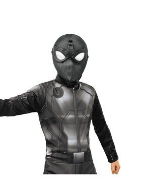 Spider - Man: Far From Home Deluxe Child Spider - Man Stealth Fabric Mask with Molded Goggles