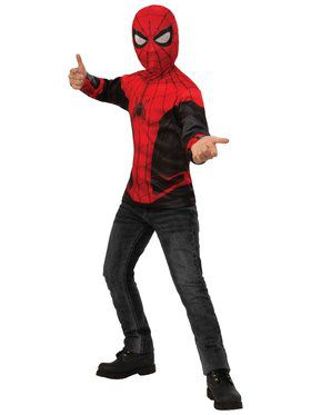 Spider - Man Far From Home: Spider - Man Costume Top (Red/Black Suit)