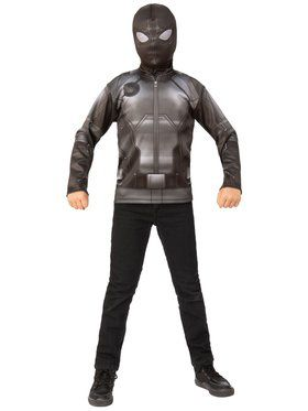 Spider - Man Far From Home: Spider - Man Costume Top (Stealth Black/Gray Suit)