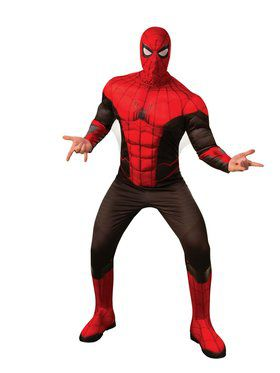 Spider - Man Far From Home: Spider - Man Deluxe (Red/Black Suit) Adult Costume