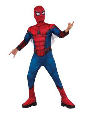 Spider - Man Far From Home: Spider - Man Deluxe (Red/Blue Suit) Child Costume