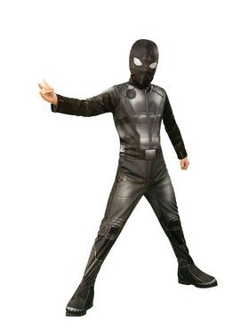 Spider - Man Far From Home: Spider - Man (Stealth Black/Gray Suit) Child Costume