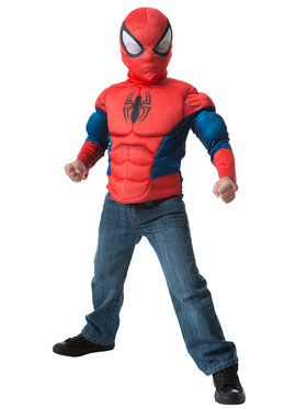 Muscle Chest Shirt and 2018 Halloween Masks Spiderman