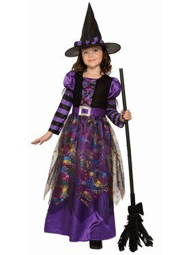 Spider Sparkle Witch Child Costume