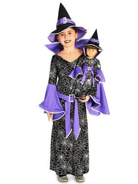 Spider Web Silver Printed Witch Costume