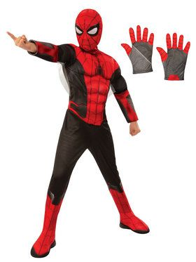 Spiderman Child Deluxe Costume Kit - Red & Black