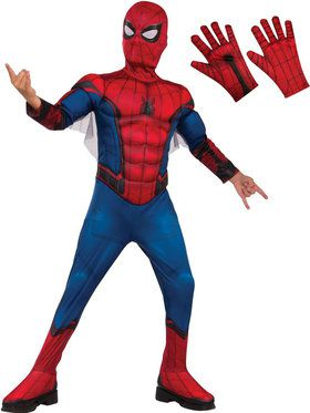 Spiderman Child Deluxe Costume Kit - Red & Blue