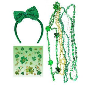 St. Patrick's Day Headband and Beads Bundle