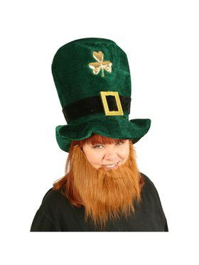 Leprechaun Hat w/  Attached Beard